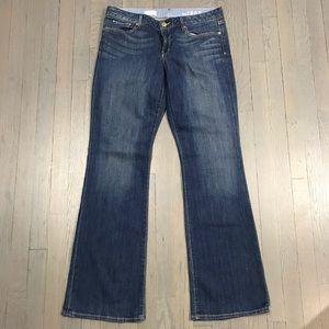 Gap 30/10 Regular Curvy Wide Leg Flare Denim Jeans
